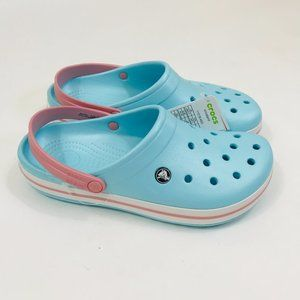 Crocs Crocband Clog Light Ice Blue White Pink Shoe